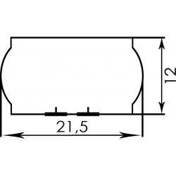 Етикетка 21.5x12 фігурна