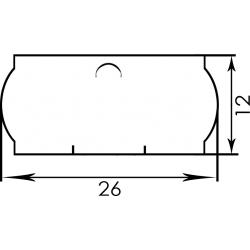 Етикетка 26х12 фігурна